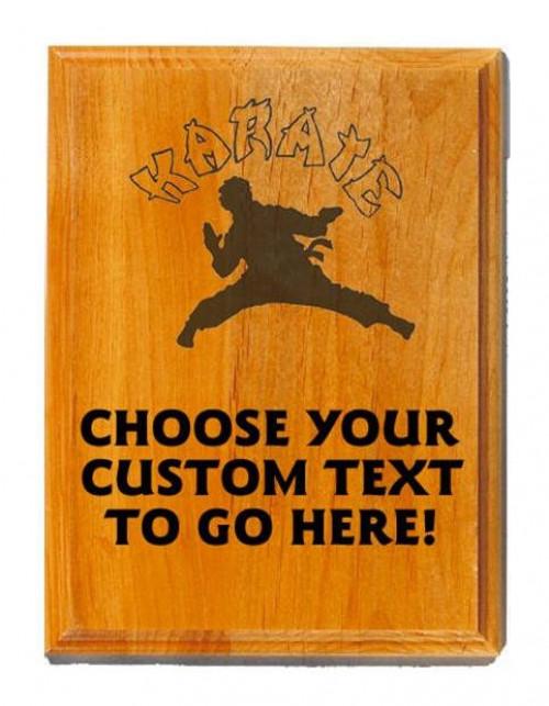 Karate Sand Oak Plaque