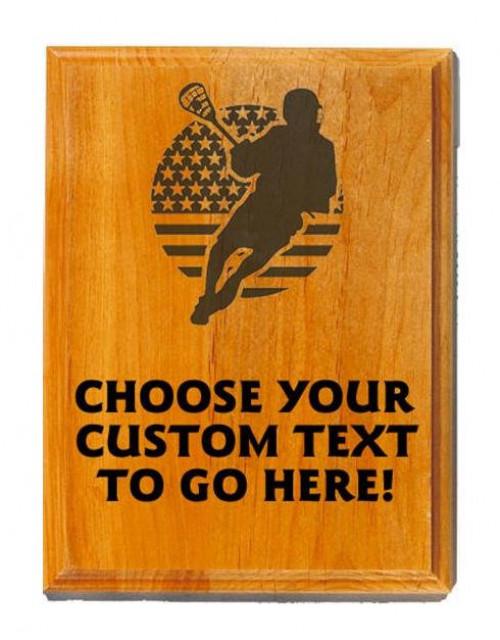 Lacrosse Sand Oak Plaque