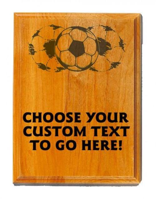 Soccer Sand Oak Plaque