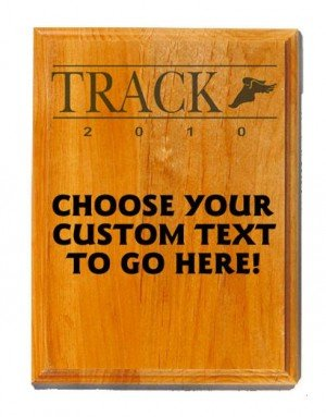 Track Sand Oak Plaque