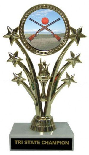 Sporting Clays Star Marble Base Trophy