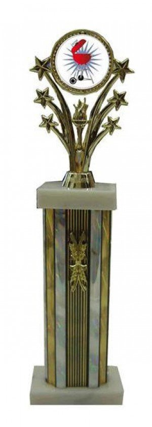 Barbecue Cook Off Star Column Trophy