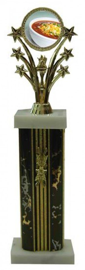 Chili Bowl Cook Off Star Column Trophies