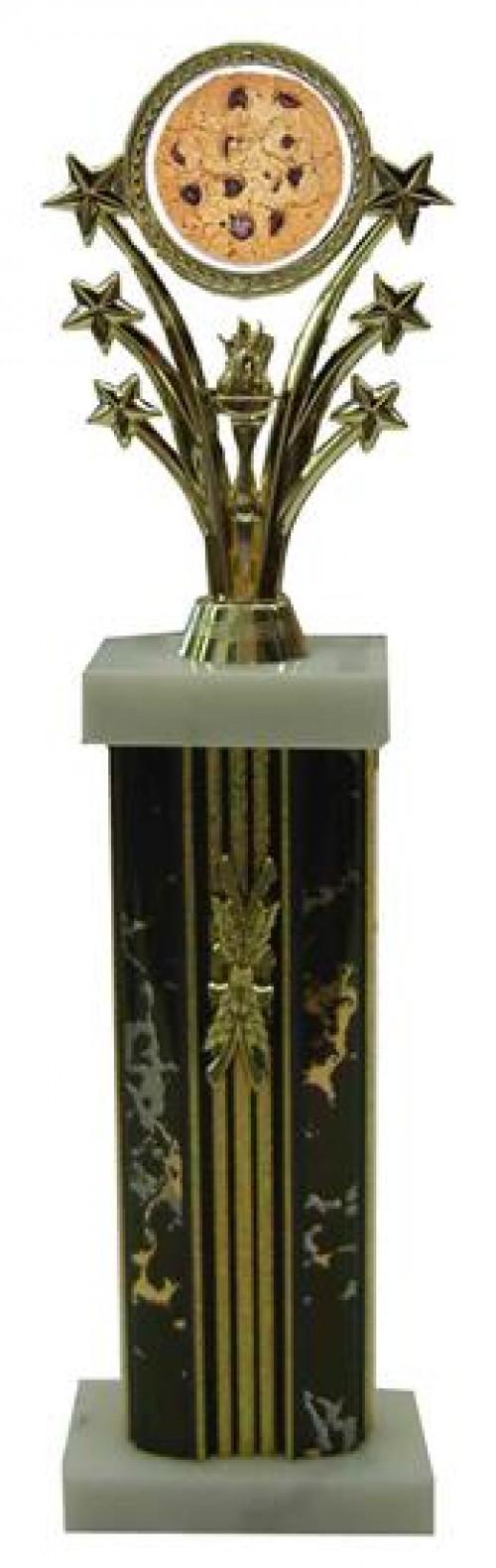 Cookie Bake Off Star Column Trophy