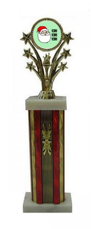 Large Star Column Santa  Trophies