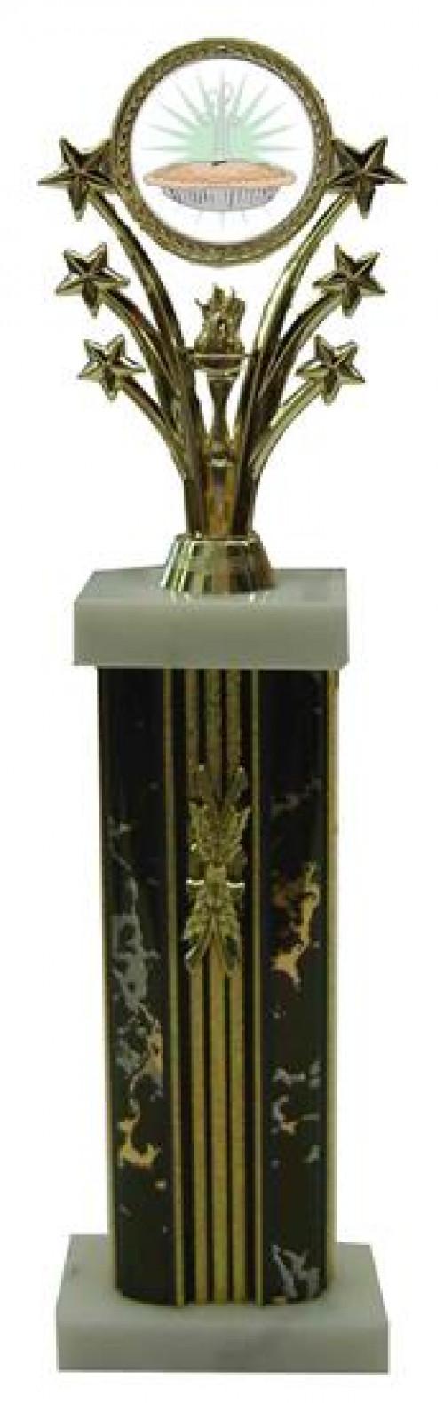 Star Column Pie Cook Off Trophies