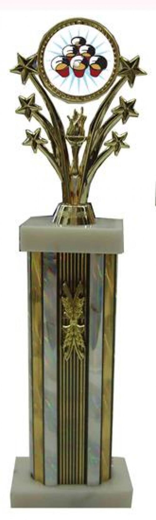 Large Star Column Beer Pong Trophies
