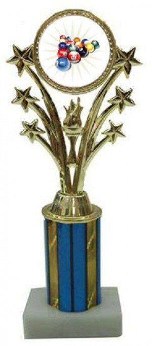 Billiard 2 Star Column Trophy