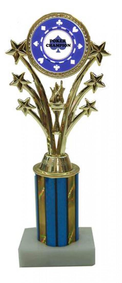 Poker Star Column Trophy