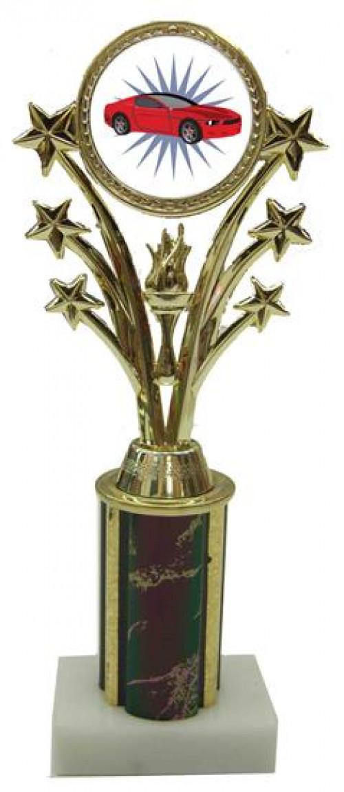 Car Star Column Trophy