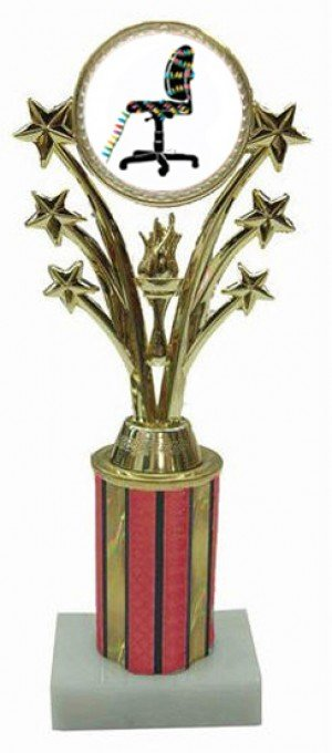Christmas Cubicle Star Column Trophy