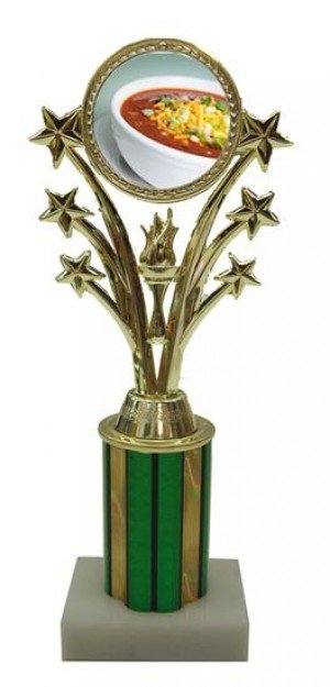 Chili Bowl Cook Off Star Column Trophy