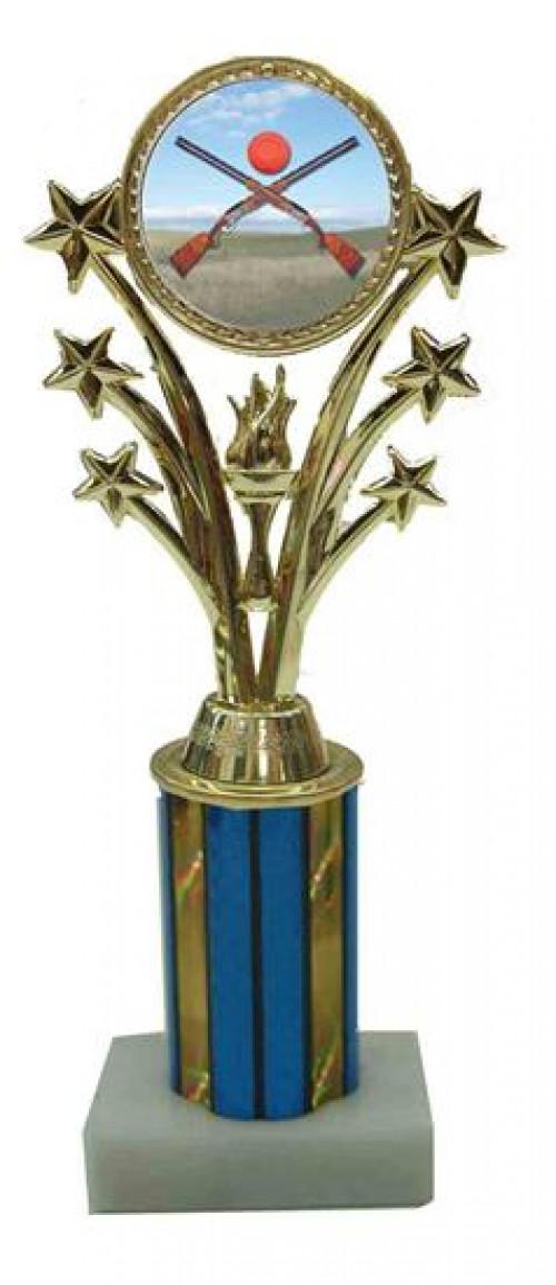 Sporting Clay Star Column Trophy