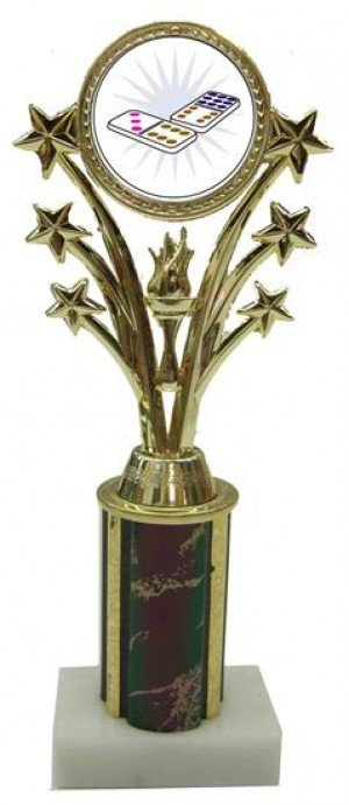 Dominoes Star Column Trophy