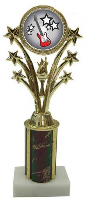 Electric Guitar Star Column Trophy