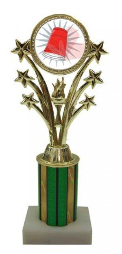 Flip Cup Star Column Trophy