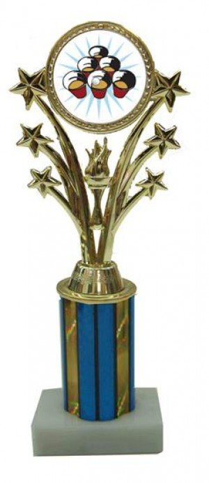 Beer Pong Star Column Trophy
