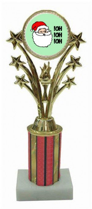 Santa Star Column Trophy