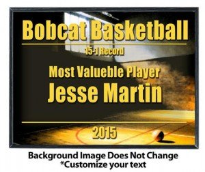 Basketball Sublimated Plaque