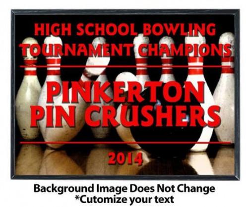 Bowling Sublimated Plaque