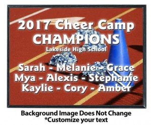 Cheerleading Sublimated Plaque