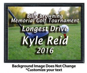 Golf Sublimated Plaque