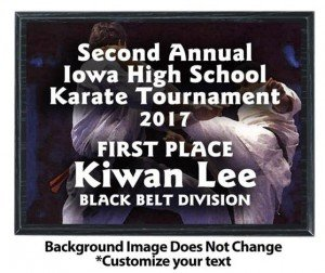 Karate Sublimated Plaque