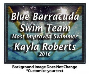 Swimming Sublimated Plaque