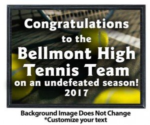 Tennis Sublimated Plaque