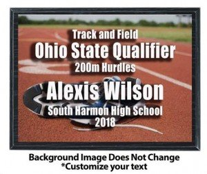 Track Sublimated Plaque