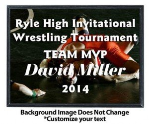 Wrestling Sublimated Plaque