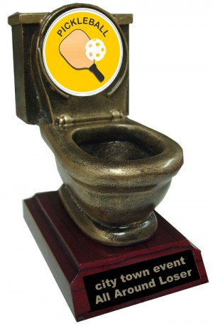 Resin Pickeball Toilet Trophy