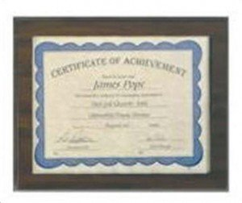 Certificate Holder Plaque