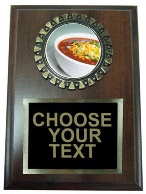Chili Bowl Cook Off Plaque
