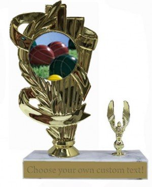 Bocce Ball Marble Base Trophy