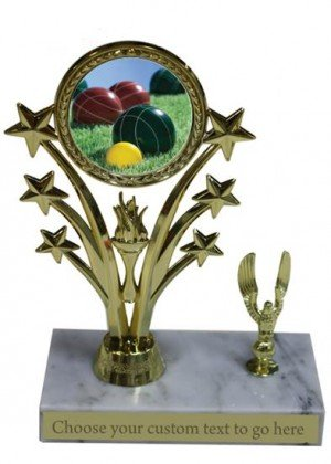 Bocce Ball Marble Base Star Trophy