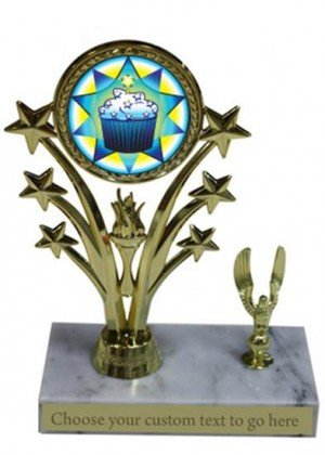 Cupcake Marble Base Star Trophy