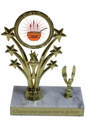 Chili Cook Off Marble Base Star Trophy