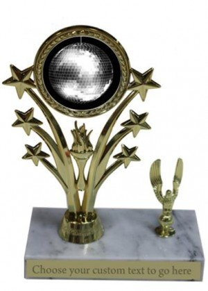 Disco Ball Marble Base Star Trophy