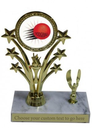 Dodgeball Marble Base Star Trophy
