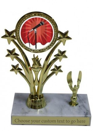 Karaoke Marble Base Star Trophy