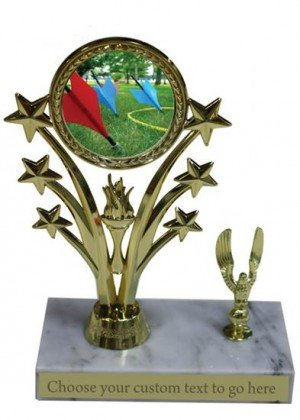 Lawn Dart Marble Base Star Trophy
