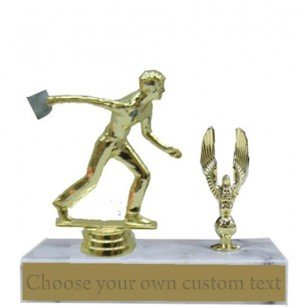 Cornhole Male Marble Base Trophy