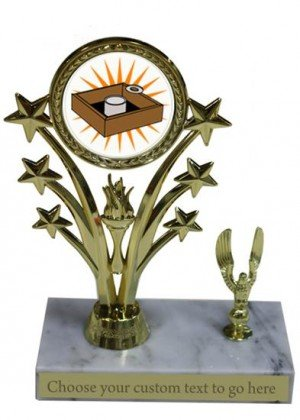 Washer Toss Marble Base Star Trophy