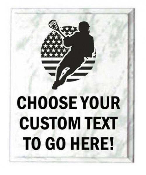 Lacrosse White Marble Plaque