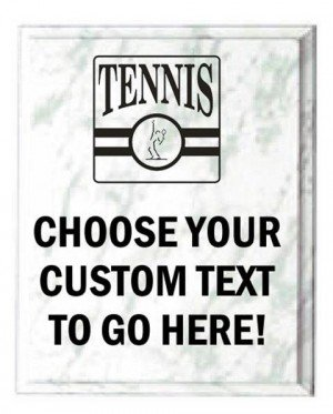 Tennis White Marble Plaque