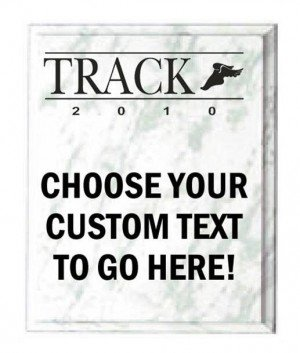 Track White Marble Plaque