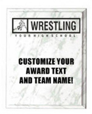 Wrestling White Marble Plaque