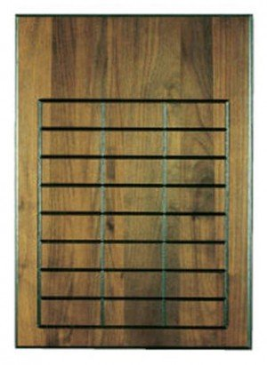 Walnut 24 Plate Perpetual Plaque