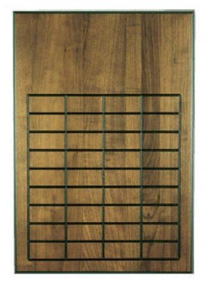 Walnut 36 Plate Perpetual Plaque